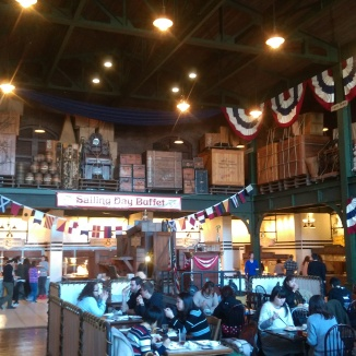 Sailing Day Buffet, located inside the warehouse near the docks.
